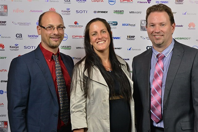 CRN Fast 50 After Party - General Manager Anthony Agnello with Company Directors Meg and Grant Klaaysen